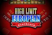 High Limit European Blackjack Casino Table Game - Play For Free